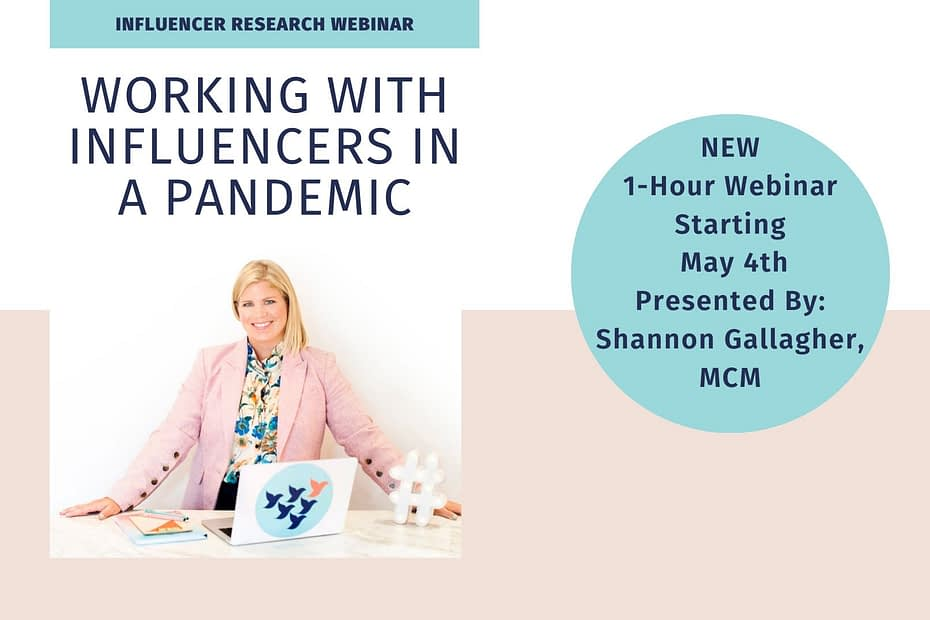 Working With Influencers In A Pandemic